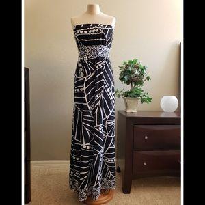 White House Black Market strapless maxi dress